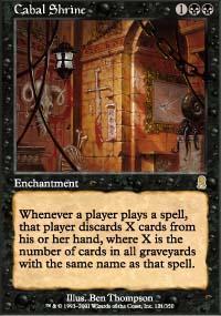 Cabal Shrine Magic Card