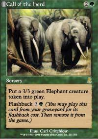 Call of the Herd Magic Card