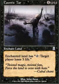 Caustic Tar Magic Card