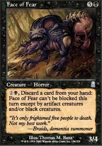 Face of Fear Magic Card
