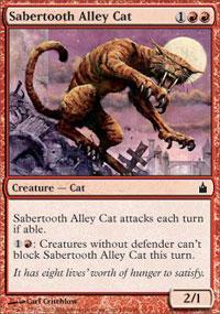 Sabertooth Alley Cat Magic Card