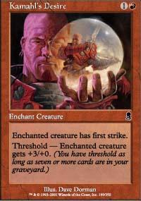 Kamahl's Desire Magic Card
