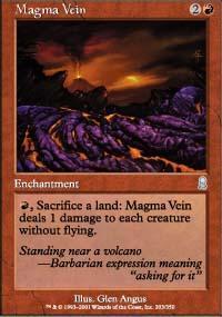 Magma Vein Magic Card