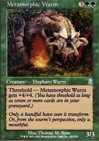 Metamorphic Wurm Magic Card