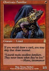 Obstinate Familiar Magic Card