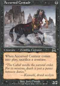 Accursed Centaur Magic Card