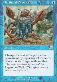 Artificial Evolution Magic Card