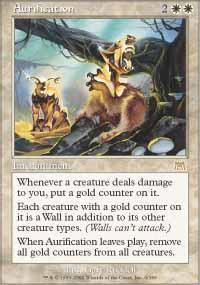 Aurification Magic Card