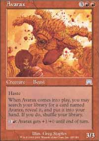 Avarax Magic Card