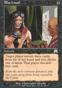 Blackmail Magic Card