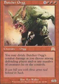 Butcher Orgg Magic Card