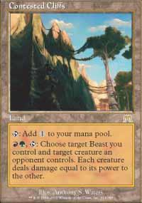 Contested Cliffs Magic Card
