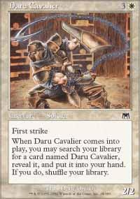 Daru Cavalier Magic Card