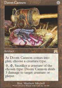 Doom Cannon Magic Card