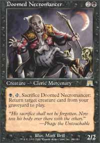 Doomed Necromancer Magic Card