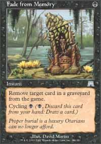 Fade from Memory Magic Card