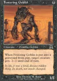 Festering Goblin Magic Card