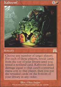 Kaboom! Magic Card