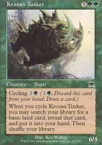 Krosan Tusker Magic Card