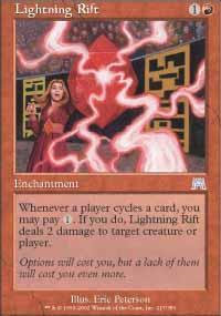 Lightning Rift Magic Card