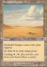 Secluded Steppe Magic Card