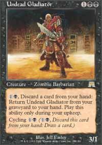 Undead Gladiator Magic Card