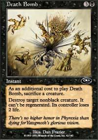Death Bomb Magic Card