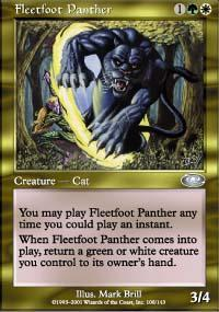 Fleetfoot Panther Magic Card
