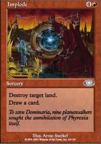 Implode Magic Card