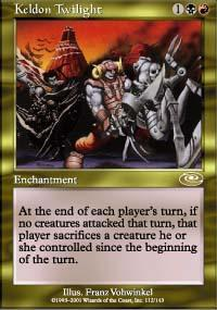 Keldon Twilight Magic Card