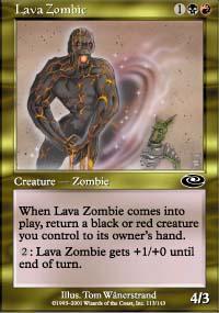 Lava Zombie Magic Card
