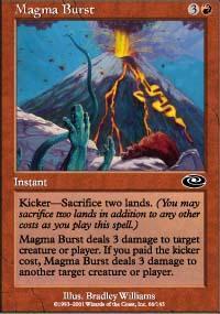 Magma Burst Magic Card