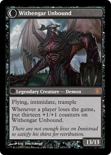 Withengar Unbound Magic Card