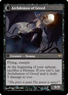 Archdemon of Greed Magic Card