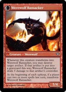 Werewolf Ransacker Magic Card